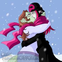 Kiss In The Winter by Chibi-Warmonger