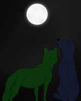 Under the moon by licorneor