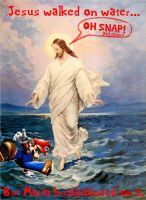 Jesus gets pwnd by Mario. by Euphoric-Suicide