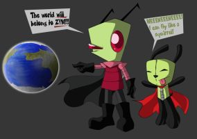 The World is ZIMs and GIR Flys by Grim-Raider