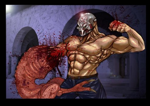 Splatter House Rick fight by TORREsDREAMLAND