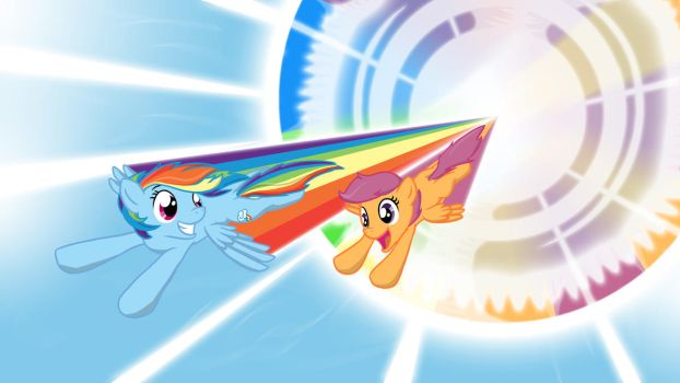 Rainbooms and Scootabooms by from-yesterday-xx
