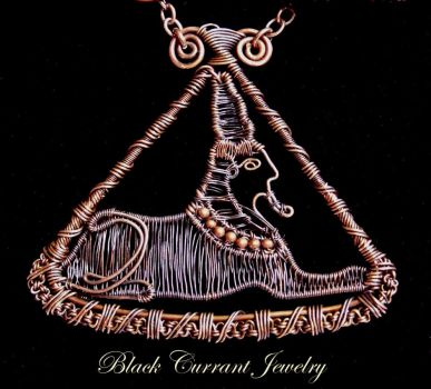 Sphinx by blackcurrantjewelry