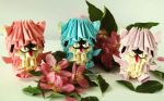 3D origami Bears by DunjaTheQuince