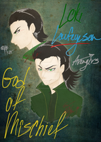 .::Loki Laufeyson, the Mischieveous::. by ShenanigansArt96