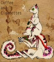 dogs. coffee and cigs by Fukari