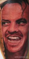 jack nicholson color tattoo by Remistattoo