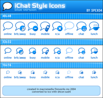 iChat Style Icons - Blue by spex04