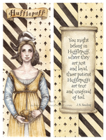 Hufflepuff Double-Sided Bookmark by Achen089