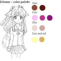 Kitsune - color palette by RaikonKitsune