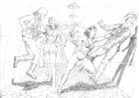 Mary Marvel and Wonder Girl team up by RPL-Arts