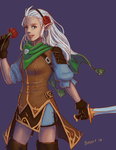 R: Rika the Duskblade by bchart