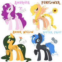 Season Pony Adoptables(All SOLD) by ParfaitPichu