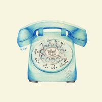 Rotary Dial Telephone Ballpoint by onecuriouschip