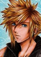 ACEO Cloud Strife by Dat-Taiga