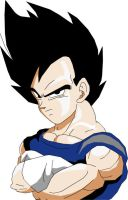 Normal Vegeta by eggmanrules