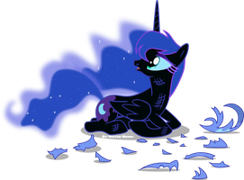 sad Nightmare moon by Vector-Brony