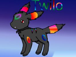 Twilo the Rainbow umbreon by ky390
