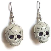 Skull Earrings That Jingle by BastsBoutique