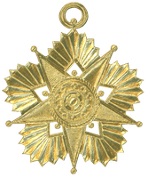 German Dresden Gold Paper Medallion Ornament 7 by EveyD