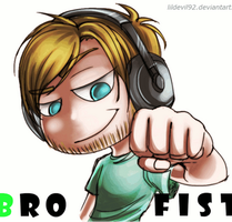 Pewdie: BRO FIST by DarkLitria