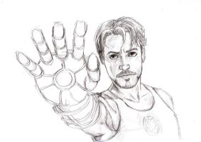Pencil Tony Stark by Anastina91