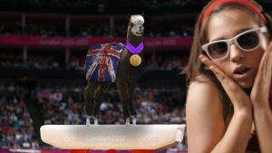 Larry the Olympic Gymnast wins Gold by BigA-nt