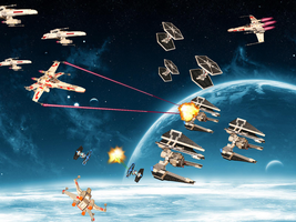 Random Space Battle by wingzero-01-custom