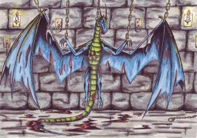 Dragon torture colore by black-Khisanth