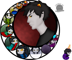 Karkat and Grub Company by Blackmoonrose13
