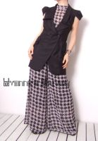 Black White Checked Jumpsuit 9 by yystudio