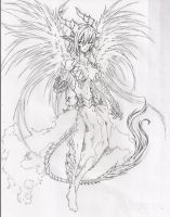 Angelic Dragon rough sketch by Graydrone