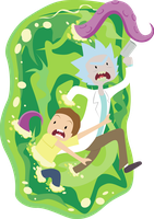 Rick and Morty by pimaik