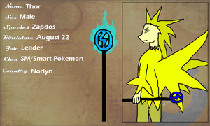 WP: Thor The Zapdos by Shade-Hero-Project-X