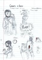 LoL: Graves and Annie sketches by blackandredwolf96