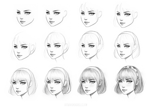 Female Character Drawing Class on Skillshare by gabbyd70