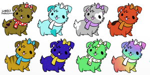 Free PuppyScarves Adopts (CLOSED) by AmyLovesPenguins