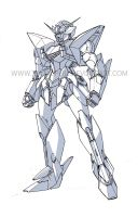 GV-01 Crusader Gundam (BW Color) by Tecmopery