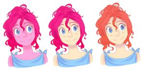 Pinkiepie Human versions by Looji