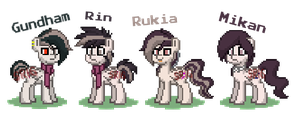 The Tanaka family in Pony Town by SuperRosey16