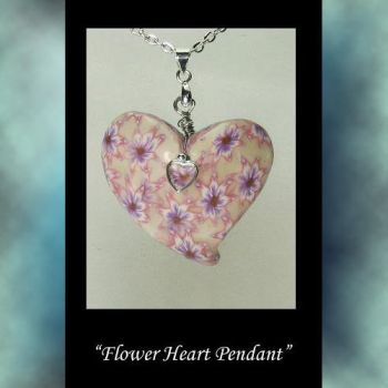 Heart Flower Pendant by KabiDesigns