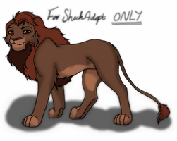 Lion for Shock-Adopt by MerlynsMidnight
