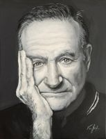 Robin Williams Painting by vanjabs