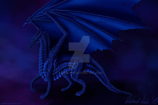 Full Scaled Blue Dragon by Vapolord