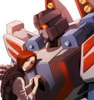 Starscream And Alexis by Valong