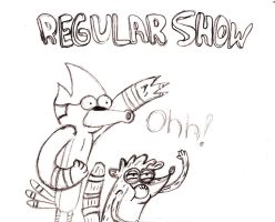 Regular Show drawing by MelanieBrown