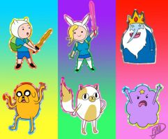 Adventure Time Chibi Set 1 by MissFynd
