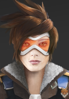Tracer / digital paint / Overwatch by diego1a