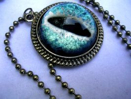 Of Heaven and Earth - Dragon Eye Pendant by LadyPirotessa