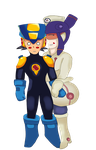 Megaman Battle Network - Megaman/Meddy by SasuNaruChibi